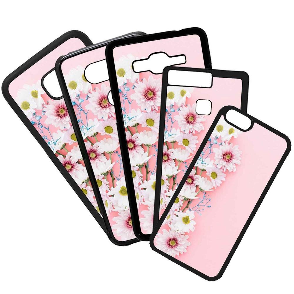 Carcasas De Móvil Fundas De Móviles De TPU Modelo Flores con fondo rosa