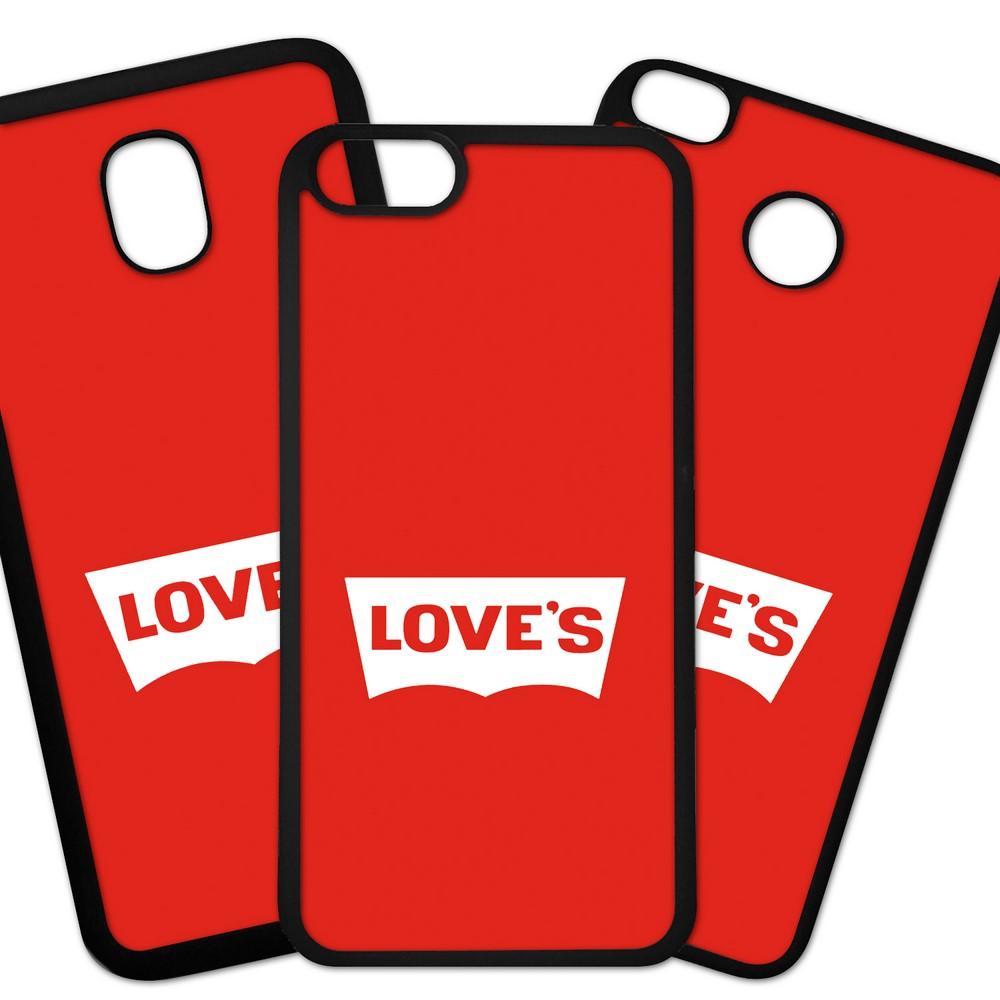 Carcasas De Móvil Fundas De Móviles De TPU Modelo Chistes Loves fondo rojo
