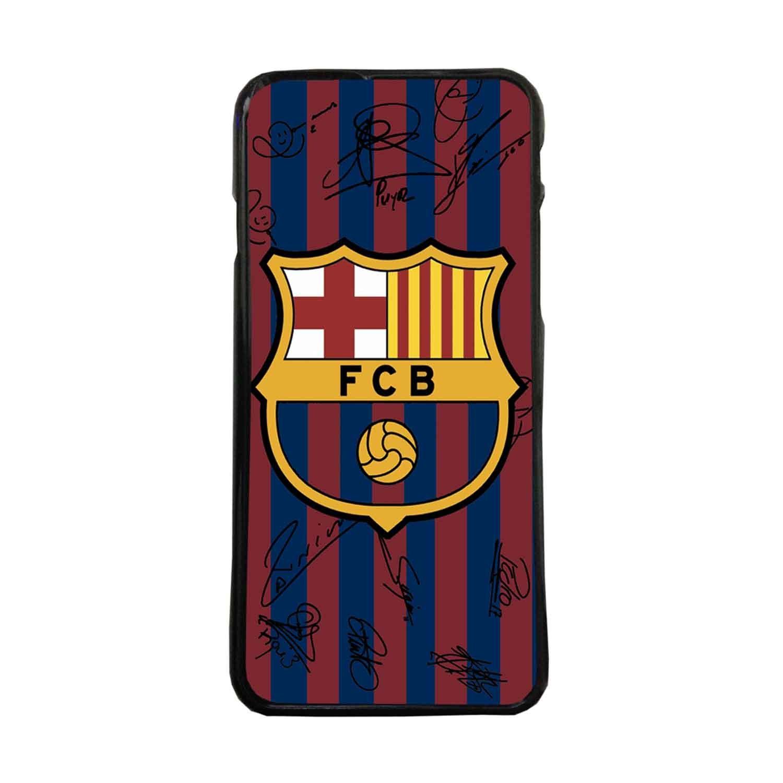 Carcasas De Móvil Fundas De Móviles De TPU Modelo FC Barcelona Escudos Y Firmas De Jugadores