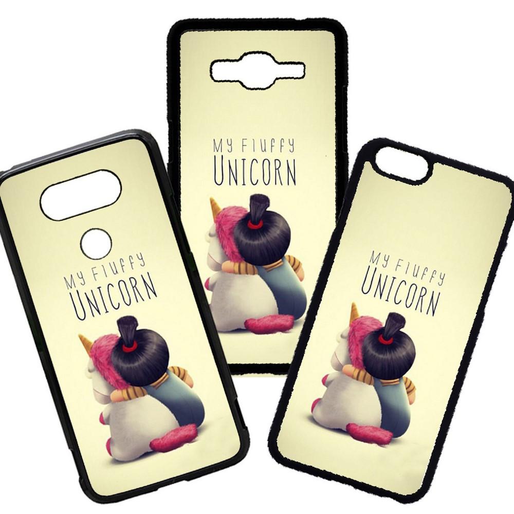 Carcasas De Móvil Fundas De Móviles De TPU Modelo Frases My Fluffy Unicorn Dibujos Moda