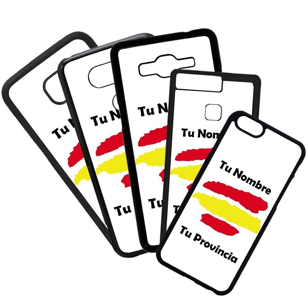 Carcasas De Móvil Fundas De Móviles De TPU Modelo bandera de españa con tu nombre y provincia