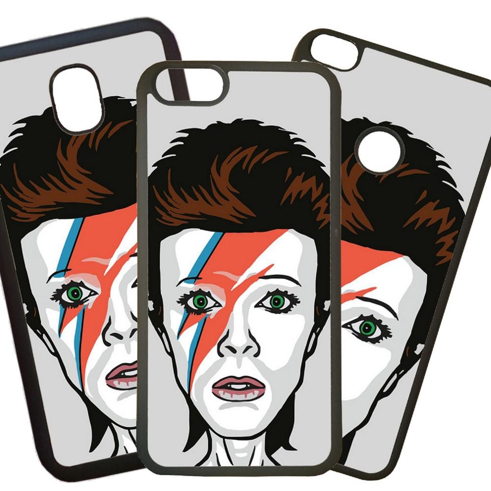 Carcasas De Móvil Fundas De Móviles De TPU Modelo David Bowie cara Rayo