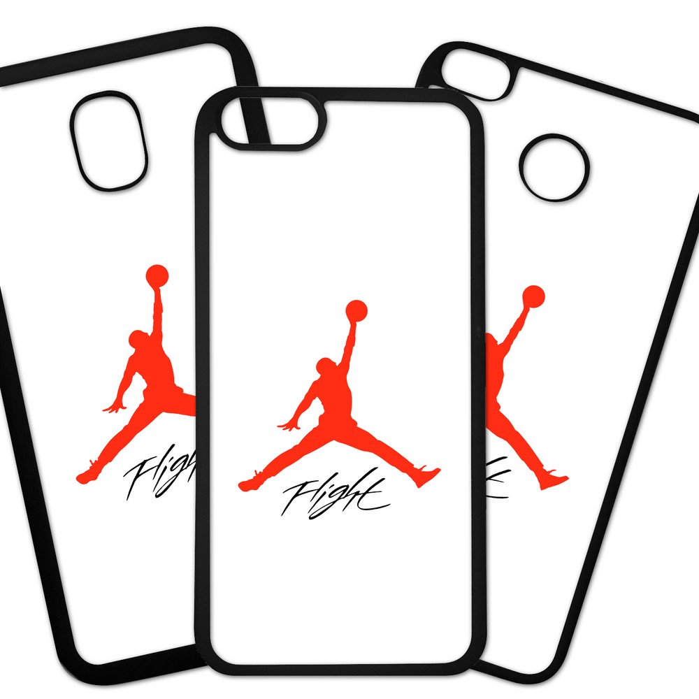 Carcasas De Móvil Fundas De Móviles De TPU Modelo Marca deporte air Jordan silueta roja sobre fondo blanco