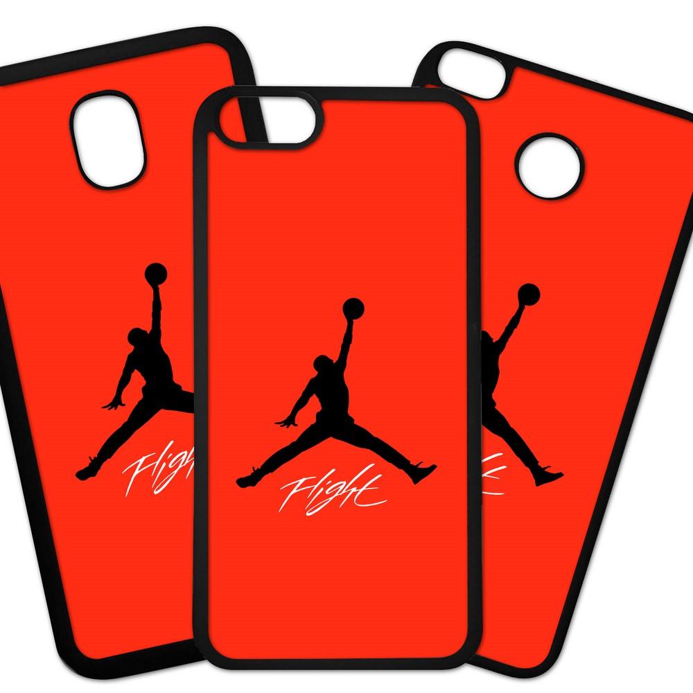 Carcasas De Móvil Fundas De Móviles De TPU Modelo Marca deporte air Jordan silueta negra sobre fondo rojo