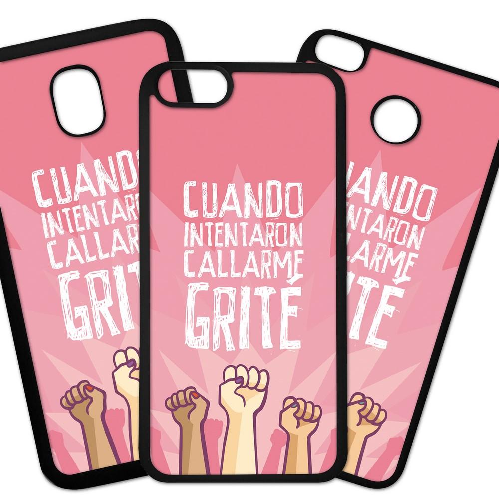 Carcasas De Móvil Fundas De Móviles De TPU Modelo Simbolo de Mujeres poderosas, dibujo de rostro