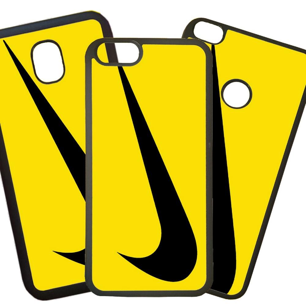 Carcasas De Móvil Fundas De Móviles De TPU Modelo Nike logo amarillo