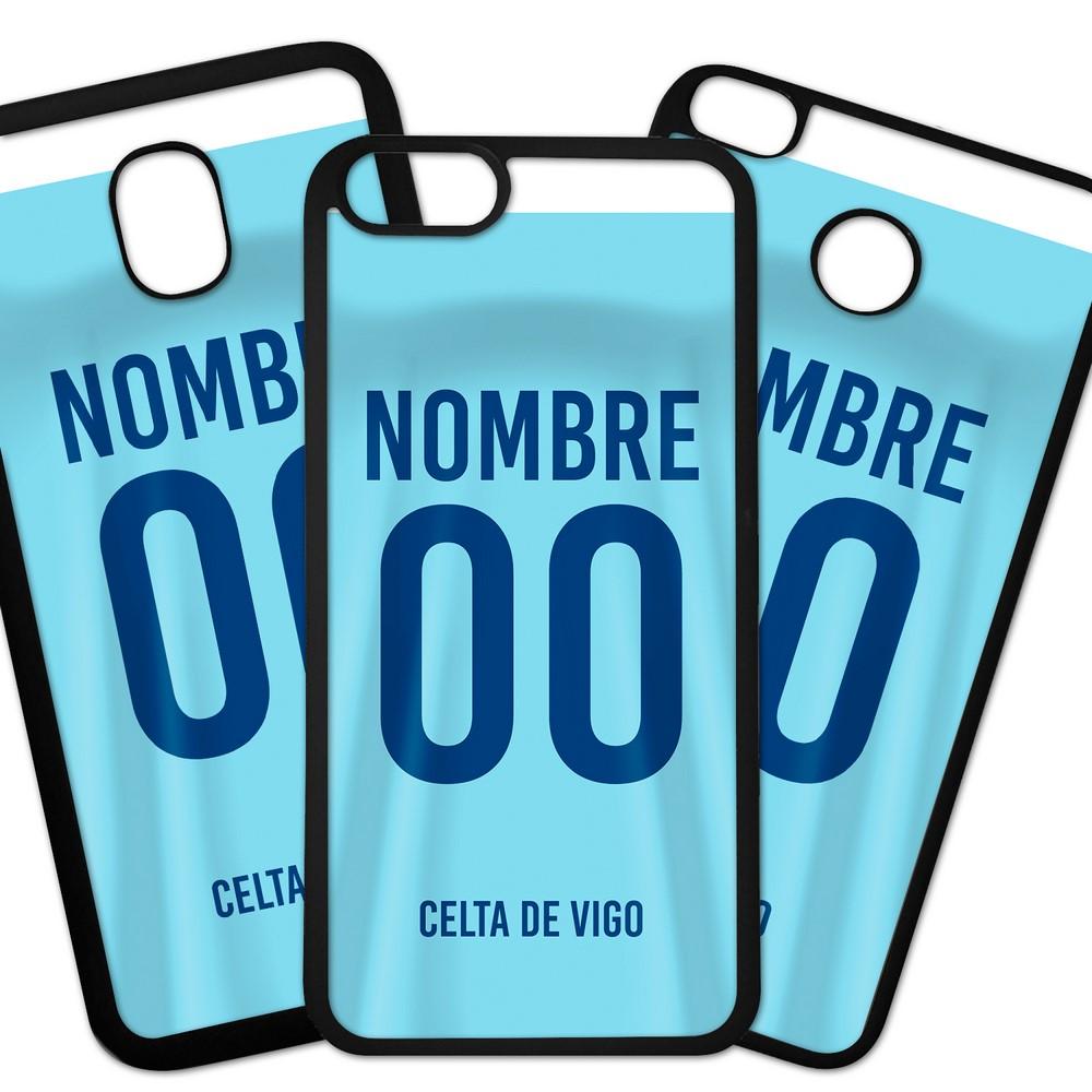 Carcasas De Móvil Fundas De Móviles De TPU Modelo Camiseta de futbol de la liga de España con los colores de tu equipo de futbol pon tu numero y tu nombre