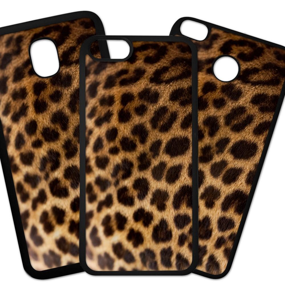 Carcasas De Móvil Fundas De Móviles De TPU Modelo Fondo imitacion tela, piel de leopardo