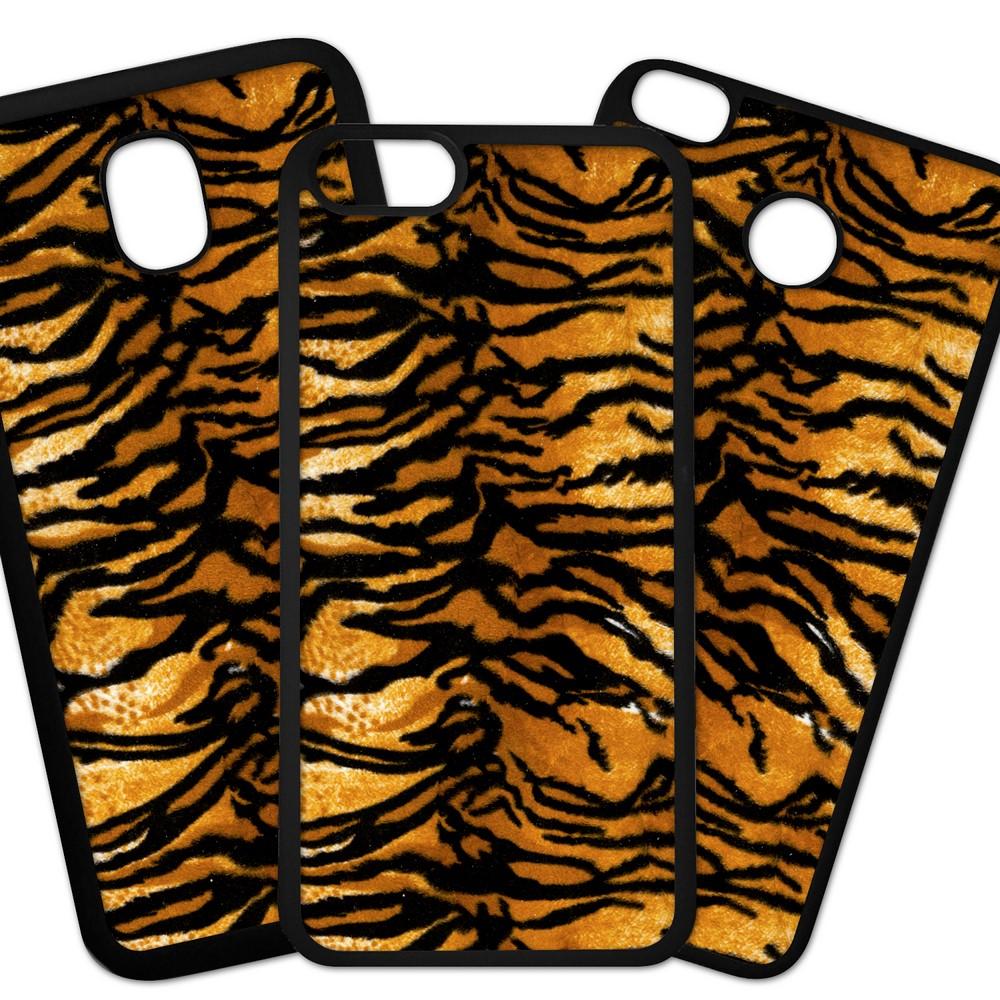 Carcasas De Móvil Fundas De Móviles De TPU Modelo Fondo imitacion tela, piel de tigre