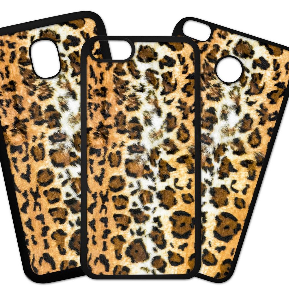 Carcasas De Móvil Fundas De Móviles De TPU Modelo Fondo imitacion tela, piel de jaguar