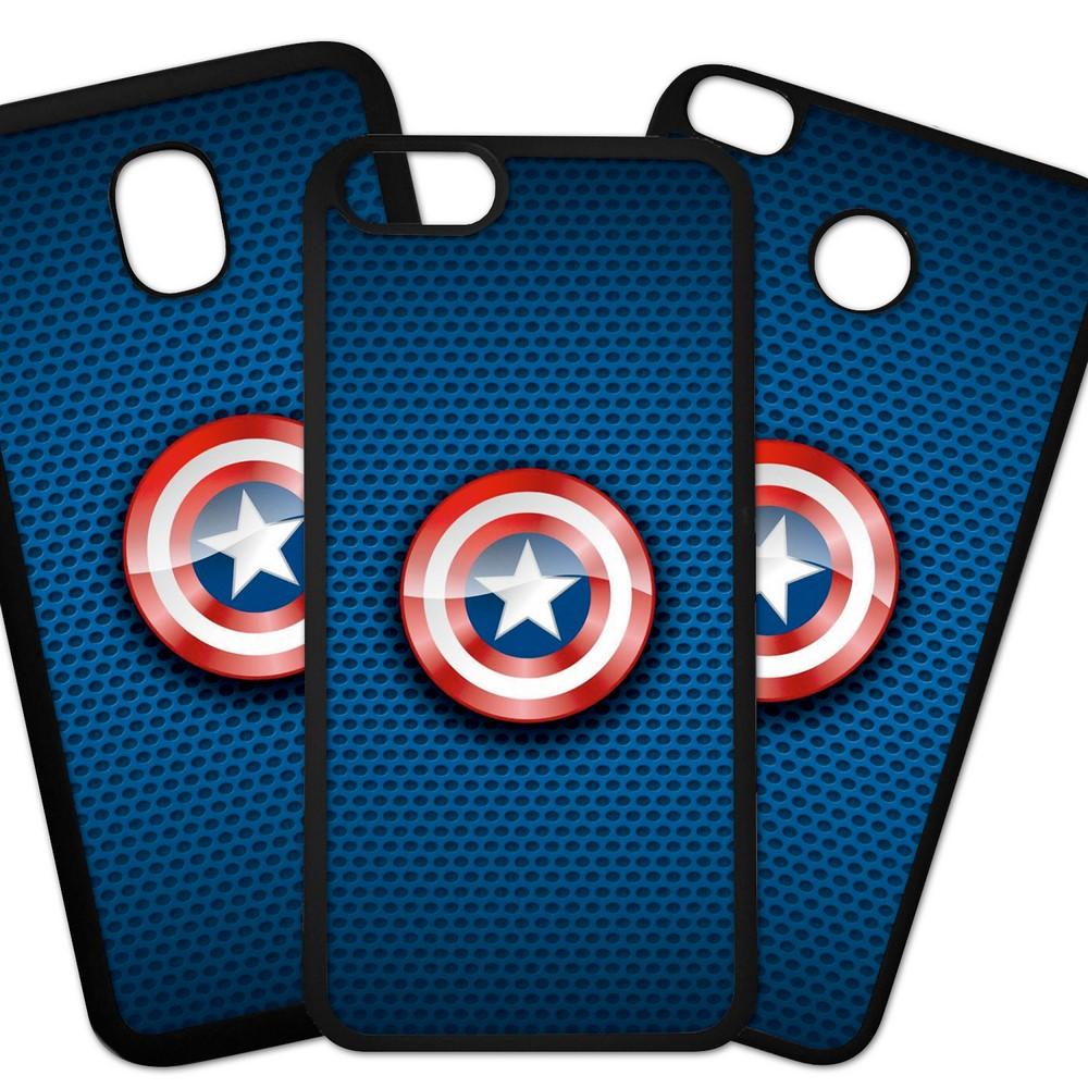 Carcasas De Móvil Fundas De Móviles De TPU Modelo Superheroe Logo, escudo, fondo color azul