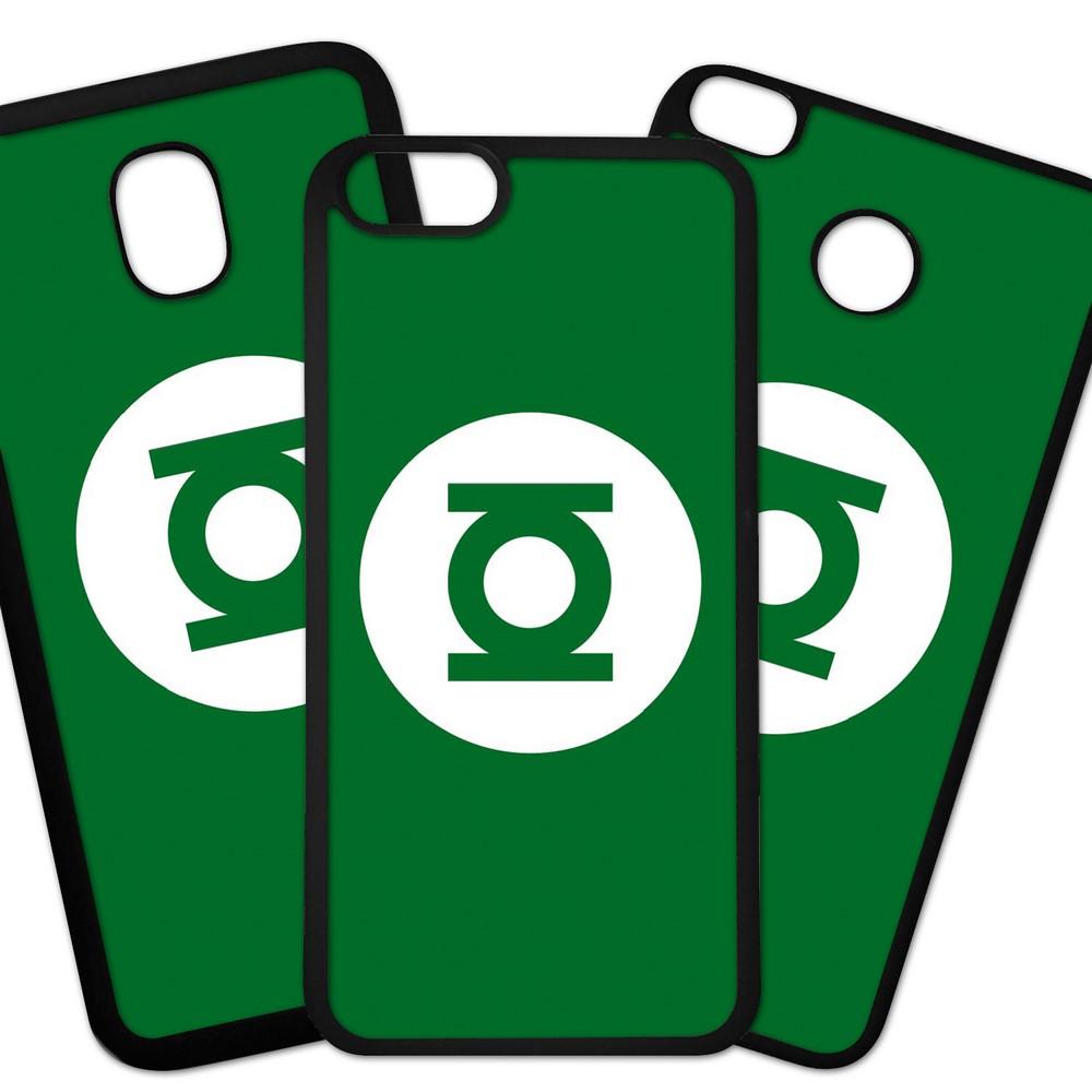 Carcasas De Móvil Fundas De Móviles De TPU Modelo Superheroe Logo, color verde fondo verde